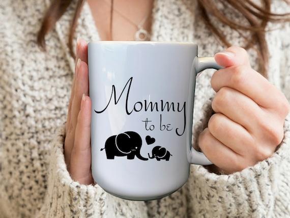 Mommy To Be Mug, Personalized Pregnancy Mugs, Custom Pregnancy Mug, Baby Elephant Mug, Expecting Mom Gift, First Time Mom Gift, Custom Mugs