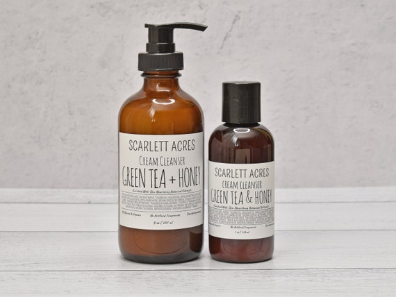 Green Tea Cream Cleanser, Green Tea Face Wash, Dry Skin Cleanser, Organic Face Wash, Sensitive Skin Cleanser, Moisturizing Cleanser