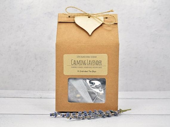 Organic Lavender Tea Blend, Sleep Aid, Stress Relief Tea, Organic Chamomile Tea, Organic Tea, Herbal Tea,  Anxiety Relief Tea, Calming Tea
