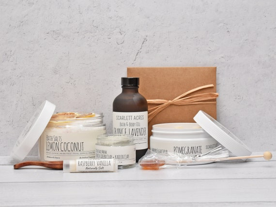 Sister Birthday Gift Box, Spa Gift For Her, Sugar Scrub Gift Set, Spa Gift Basket, Thank You Gift Box, Gift Baskets For Women