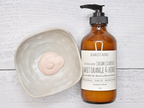 Citrus Honey Cream Cleanser, Orange Cleanser, Facial Cleanser, Organic Cleanser, Natural Face Wash, Dry Skin Cleanser, Moisturizing Cleanser