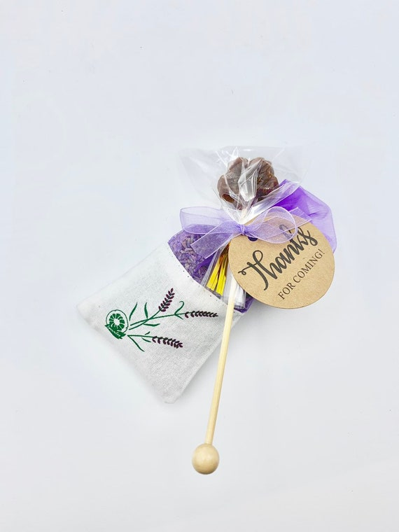 Lavender Wedding Favors, Lavender Sachets, Honey Lollipops, Tea Party Gifts, Honey Favors, Lavender Favors, Lavender Bridal Favors