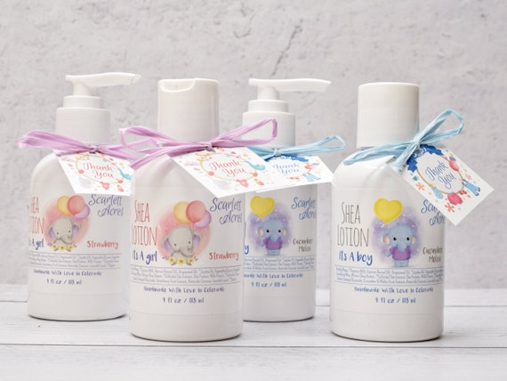 4 It's A Girl Lotion Favors, Baby Shower Favors, It's A Boy Favor, Baby Elephant Lotion Favors, Pink Lotion Favors, Baby Blue Favors