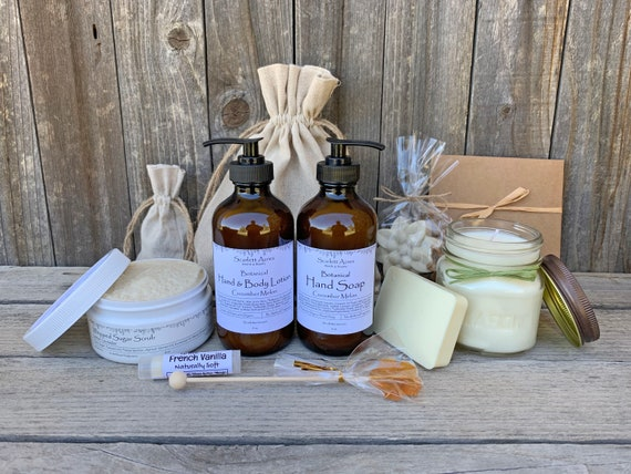 Relaxation Gift Box, Thinking Of You Gift, Cancer Care Package, Organic Spa Gift Set, Gift Baskets For Women, Natural Spa Gift Box