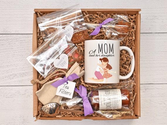 Mom Birthday Gift Box, Tea Lover Gift, Tea & Mug Gift Set, Tea Gift Basket, Birthday Gift Basket, Gift Baskets For Women, Mother's Day Gift