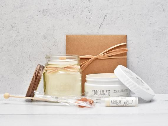Thank You Gift Box, Candle Gift Set, Thank You Gift Basket, Thank You Gifts, Pamper Gift Basket, Sugar Scrub Gift