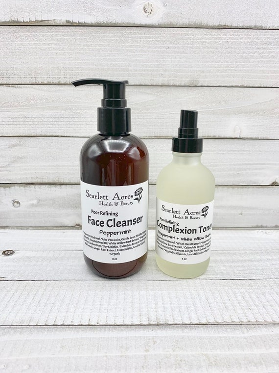 Acne Skin Care Kit, Acne Face Wash, Acne Toner, Oily Skin Cleanser, Oily Skin Toner, Peppermint Face Wash, Peppermint Toner