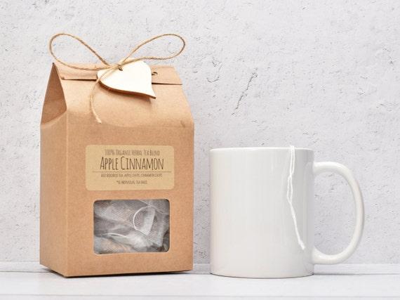 Apple Cinnamon Tea, Organic Rooibos Tea, Organic Tea Bags, Organic Herbal Tea, Tea Lover Gift, Tea Gifts, Tea Gift Box, Tea Party Favors