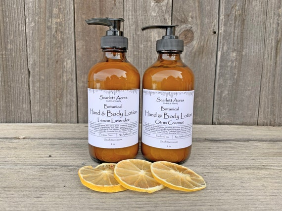 Citrus Coconut Lotion, Shea Butter Lotion, Organic Lotion, Cruelty Free Lotion, Natural Body Lotion, Hand and Body Lotion, Dry Skin Lotion