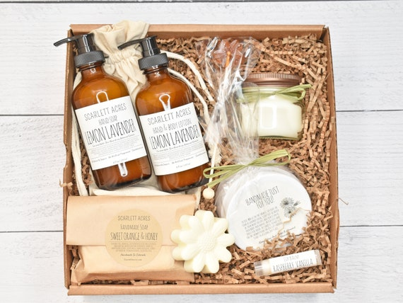 Birthday Gifts For Her, Spa Gift Basket, Thank You Gift Box, Organic Spa Gift Set, Gift Baskets For Women, Mom Birthday Gift Basket