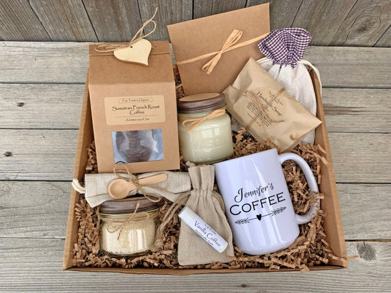 Coffee Gift Basket, Coffee And Mug Gift, Teacher Appreciation Gift, Coffee Care Package, Best Friend Gift Box, Sister Birthday Gift