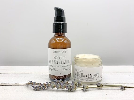 Lavender White Tea Face Lotion, Lavender Moisturizer, Acne Face Lotion, Natural Moisturizer, Sensitive Skin Moisturizer