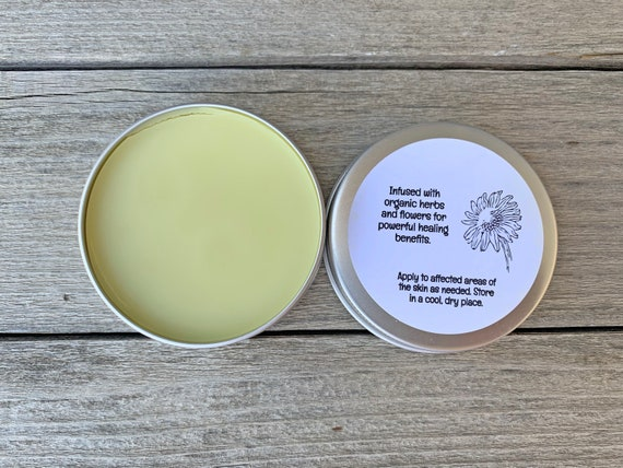 Organic Eczema Salve, Hemp Seed Oil Cream, Calendula Salve, Herbal Infused Salve, Baby Eczema Cream, Shea Butter Cream, Unscented Cream