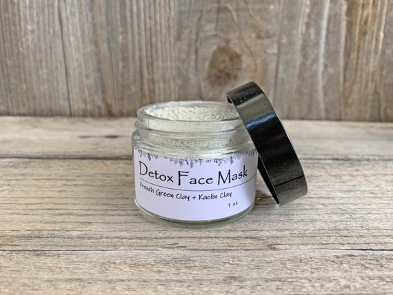 Detox Clay Face Mask, French Green Clay Mask, Exfoliating Face Mask, Oily Skin Face Mask, Acne Face Mask, Sensitive Skin Face Mask