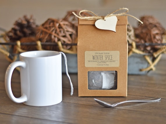 Organic Winter Spice Tea, Organic Tea Bags, English Breakfast Tea, Tea Gift Box, Organic Black Tea, Organic Chai Tea