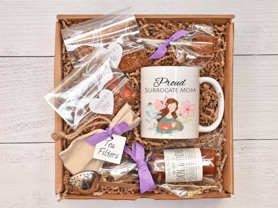 Surrogacy Gift Box, Surrogate Mother Gift, Inspirational Gift, Tea Gift Basket, Lotion Gift Set, Pamper Gift Basket, Surrogate Care Package
