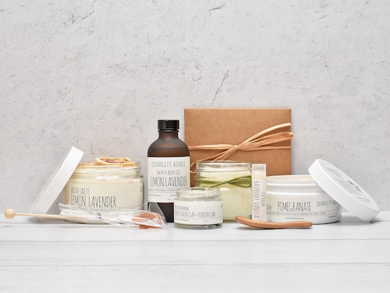 Birthday Gifts For Her, Organic Spa Gift Set, Mom Birthday Gift Box, Pamper Gift Basket, Gift Box For Women, Best Friend Gift Box