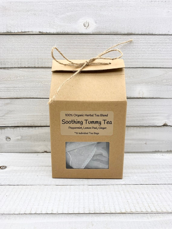 Organic Nausea Tea, Morning Sickness Tea, Pre Filled Tea Bags, Organic Herbal Tea, Organic Ginger Tea, Organic Peppermint Tea, Energy Tea