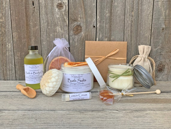 Best Friend Gift Box, Friend Birthday Gift, Birthday Gifts For Her, Organic Spa Gift Set, Large Bath Gift Set, Thinking Of You Gift