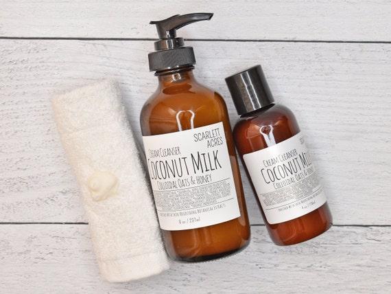 Coconut Milk Cleanser, Cream Cleanser, Sensitive Skin Cleanser, Honey Cleanser, Moisturizing Face Wash, Colloidal Oatmeal Cleanser