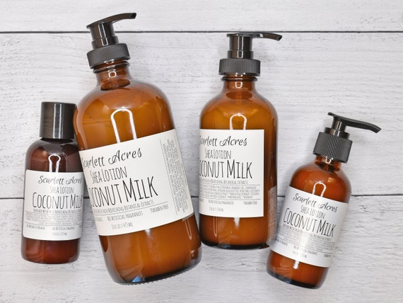 Unscented Lotion, Coconut Milk Lotion, Organic Hand Lotion, Hand & Body Lotion, Eczema Lotion, Sensitive Skin Lotion, Probiotic Lotion
