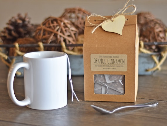 Organic Orange Cinnamon Tea, Herbal Tea Bags, Organic Tea Bags, Loose Leaf Tea, Tea Gift Box, Tea Gifts, Tea Lover Gift, Christmas Tea Blend