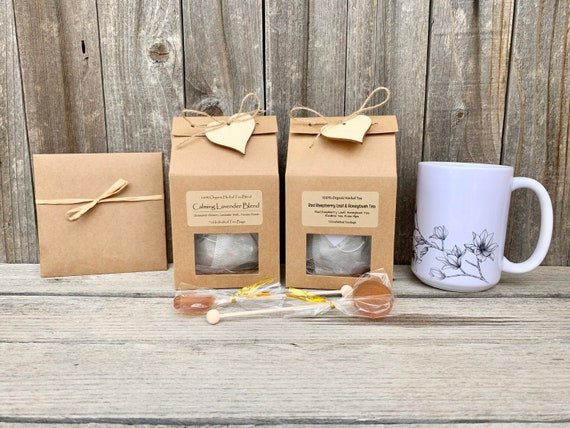 Tea Lover Gift, Tea & Mug Gift Set, Tea Gift Basket, Teacher Appreciation Gift, Gift Baskets For Women, Mom Birthday Gift Box