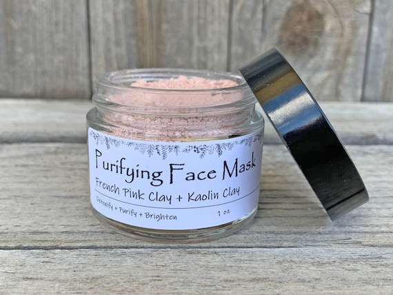 French Pink Clay Mask / Purifying Clay Face Mask / Kaolin Clay Mask / Detox Face Mask / Sensitive Skin Mask / Dry Skin Face Mask