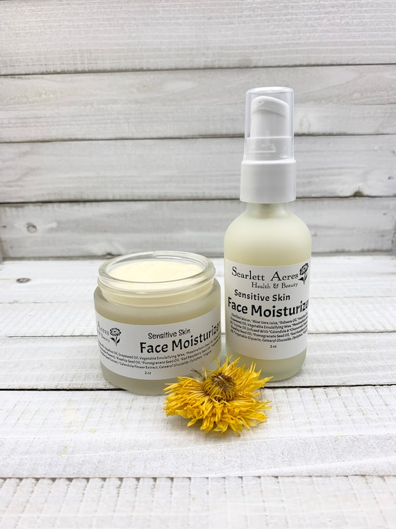 Unscented Moisturizer, Unscented Face Lotion, Sensitive Skin Moisturizer, Natural Face Lotion, Eczema Face Lotion, Natural Moisturizer