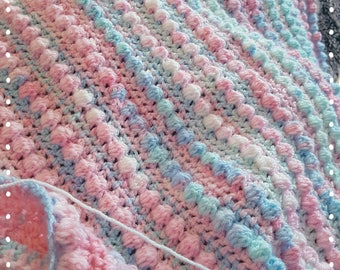 Crochet Bobbly Baby Blanket PDF INSTANT DOWNLOAD