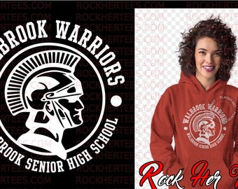 db08da4a904 Unisex Walbrook Warrior Red hoodie with grey Walbrook logo up to 4XL (for  men and women)