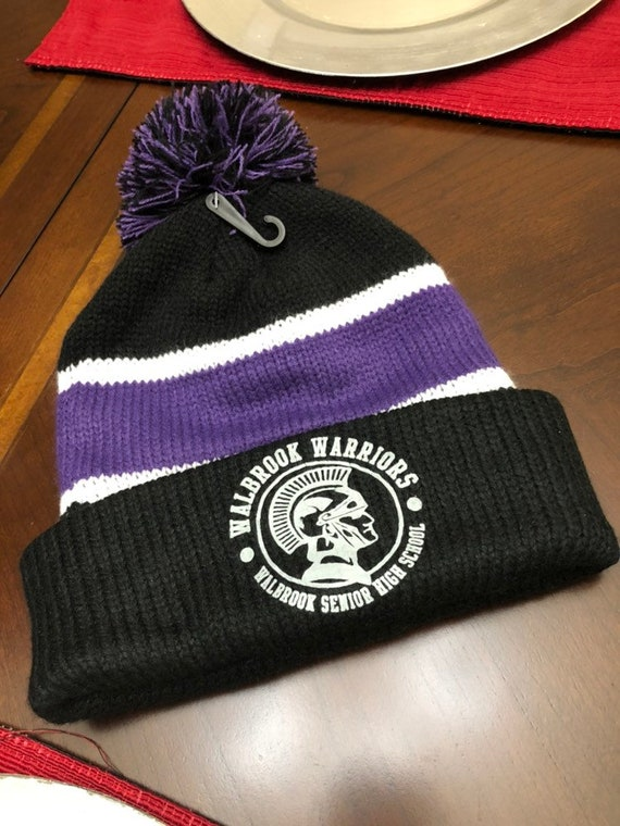 4a7223a6eea Ravens Walbrook Warrior logo three color beanie unisex one