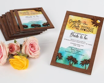 California Dreamin' Themed Bridal Shower, Baby Shower, Birthday Part Invitations