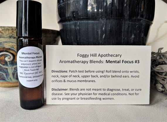Improve Mental Focus #3 Aromatherapy Blends in a Roller Bottle