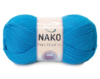 NAKO 100% WOOL Pure Wool 3,5 350M 22 Colors