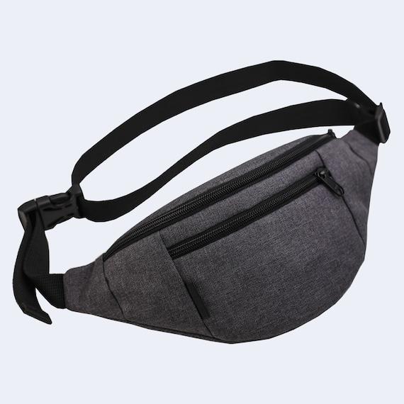 Sac à main, sac de taille de ceinture minimaliste sac, sac de hanche en cuir homme, sac de banane gris, sac utilitaire, Simple sac de ceinture, Fanny Pack, Hip Bag, sac bandoulière homme, Mens