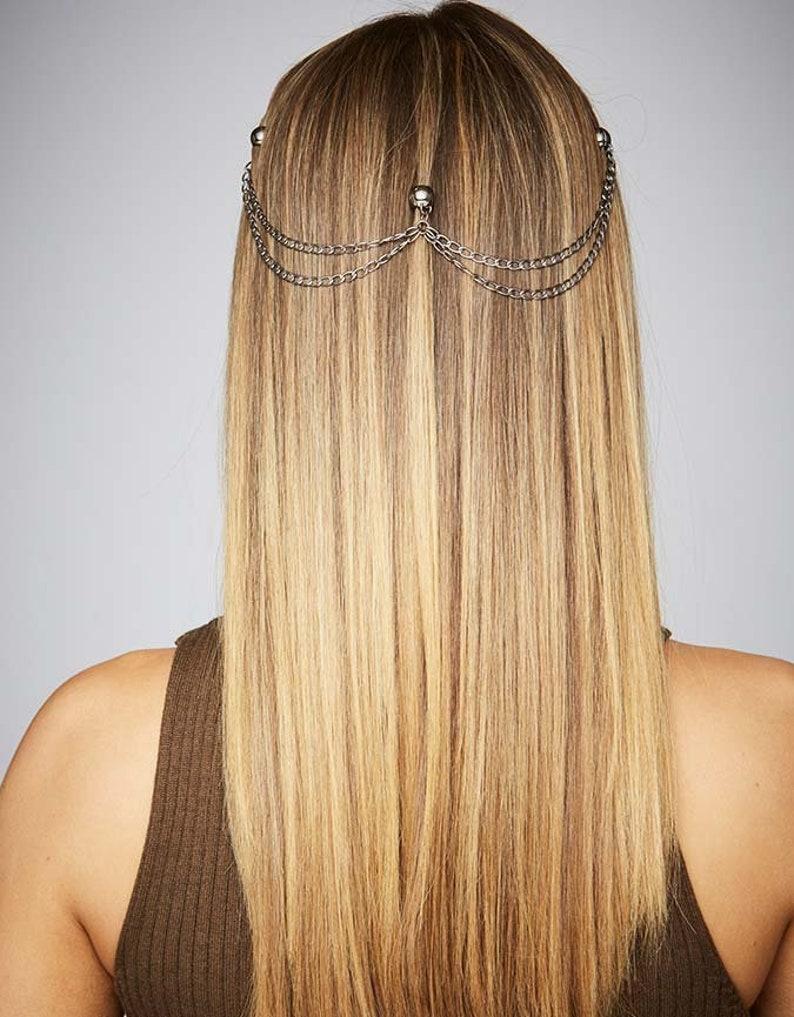 b9e0b5e969208 Boho Hair Chain Festival On Trend Hair Jewelry Fashion Hair Accessories  Party Hair Styling Tools Non-slip KELA Hair Jewellery