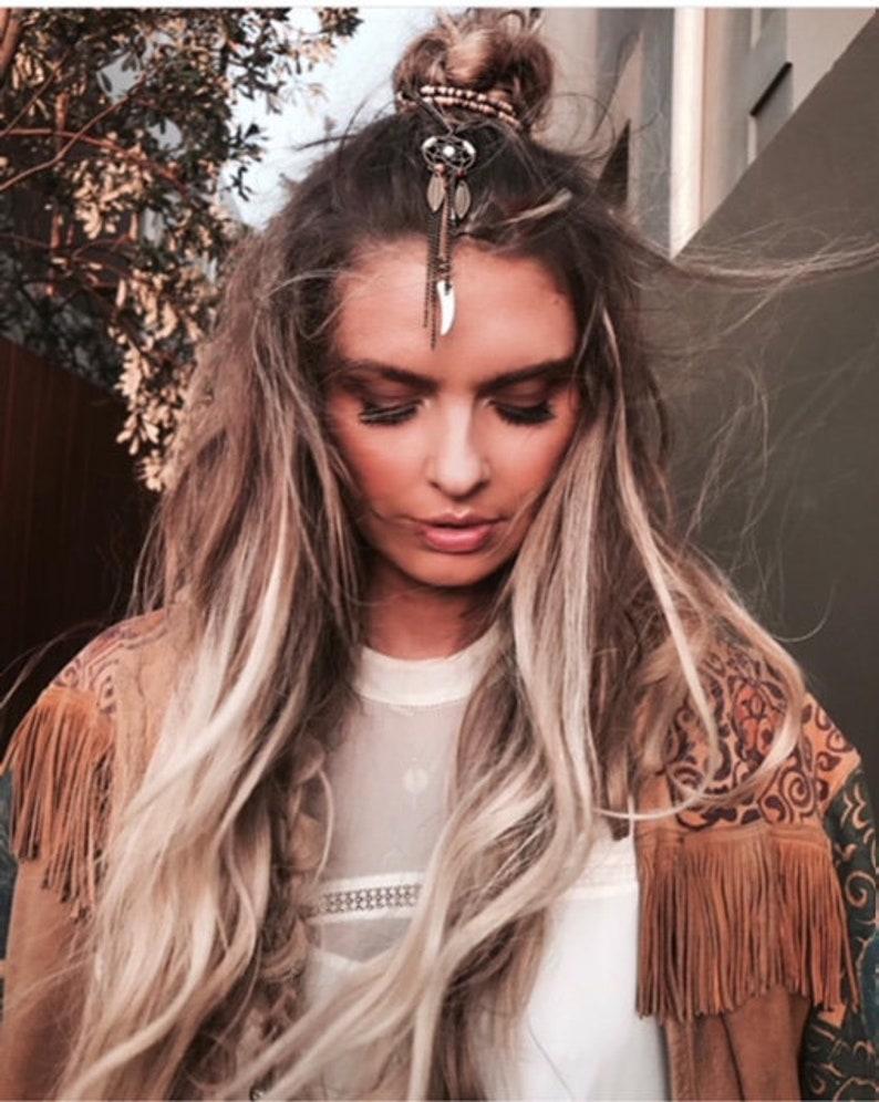 2855c22dc5004 Boho Hair Chain Dreamcatcher Festival Fashion Feather Headpiece Hair  Accessories Occasion Women Jewelry Non-slip KELA Hair Jewellery