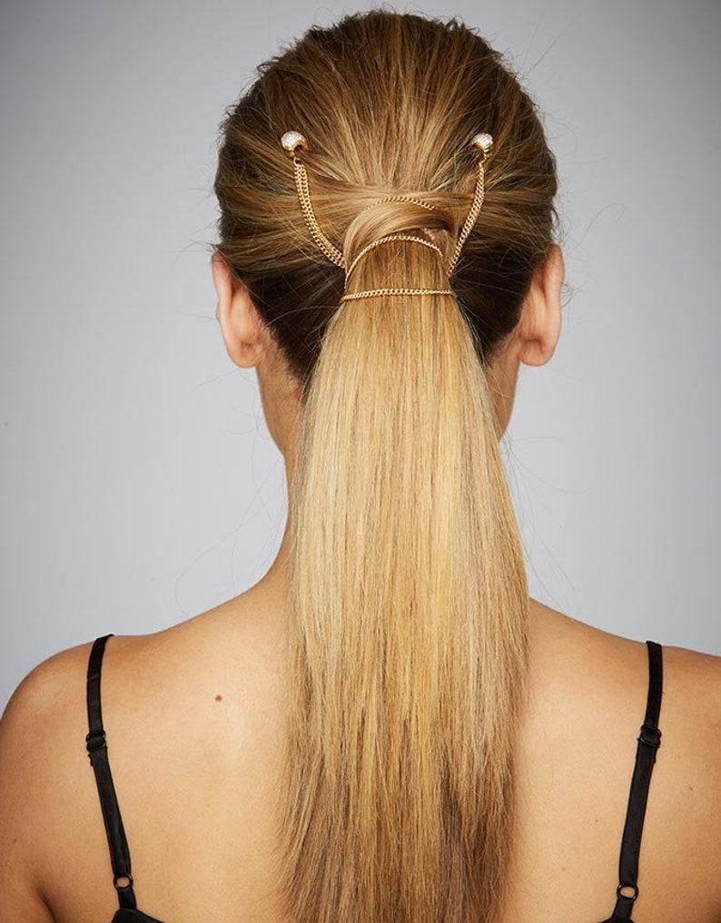 7a5c167063bc2 Hair Chain Ponytail Wrap Fashion Hair Jewelry Women hair styling tool  Bridal Festival On Trend Hair Accessories Non-slip KELA Hair Jewellery
