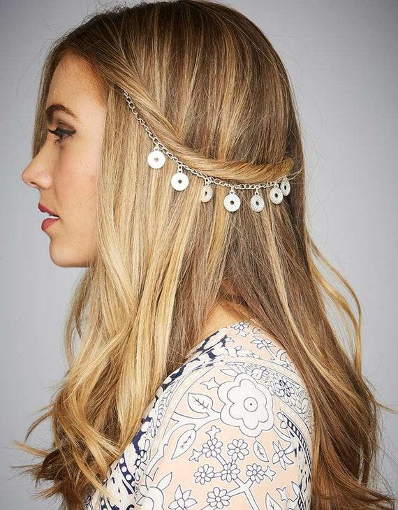 Boho Hair Chain Fashion Hair Jewelry Platinum Rose Gold Hair Etsy
