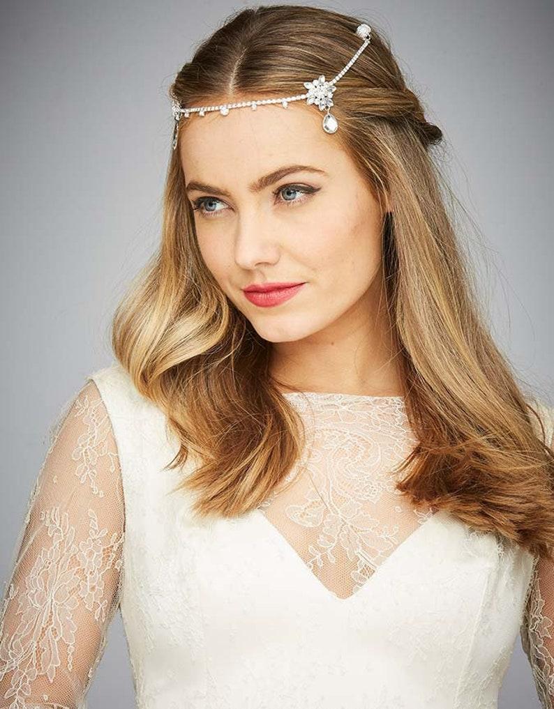 fbf36cbf19768 Crystal Hair Chain Bridal Wedding Hair Jewelry Occasion Party Women Hair  Accessories Non-slip KELA Hair Jewellery