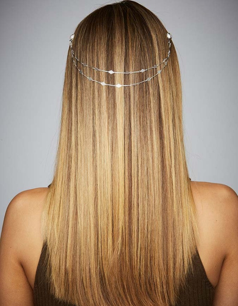 f265e905c7531 Hair Chain Fashion Hair Accessories Festival Party Occasion Hair Jewelry  Silver Diamond Shape Non-slip KELA Hair Jewellery