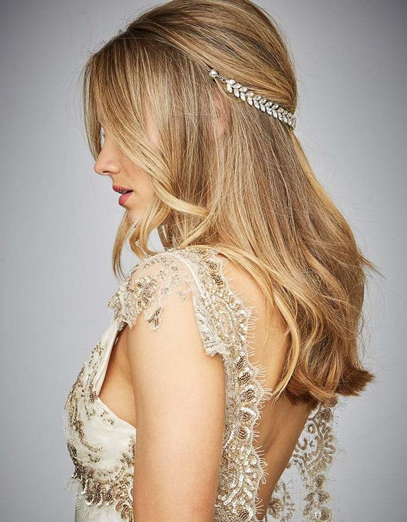 ea0ce337cc977 Crystal Hair Chain Wedding Bridal Hair Jewelry Fashion Headwear Party  Occassion Accessories Women KELA Hair Jewellery