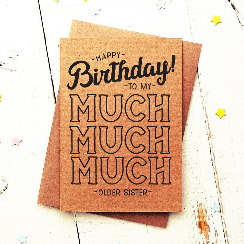 Sister Birthday Card Funny
