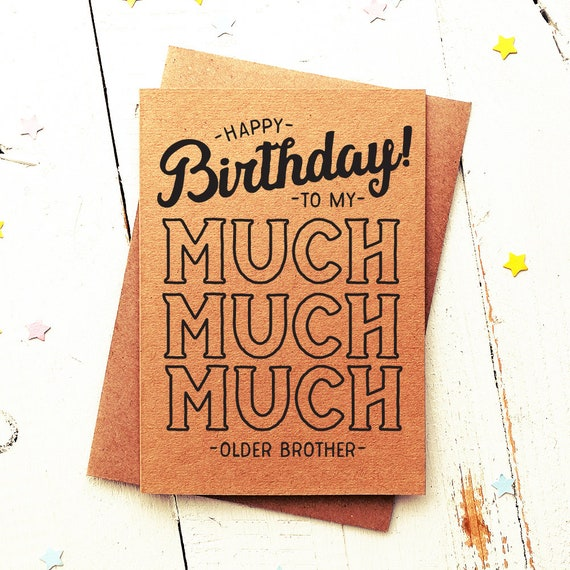 Funny Birthday Card Brother For