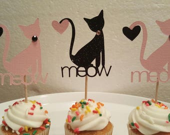 Cat Cupcake Toppers, Cupcake Decorations