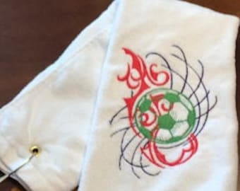 Soccer Youth Embroidered Towel
