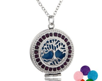 Essential Oil Diffuser Locket With Necklace & 5 Color Refill Pads!
