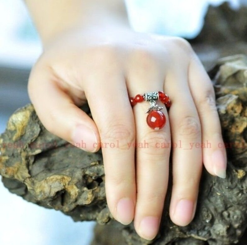 Carnelian Gemstone Stretch Ring