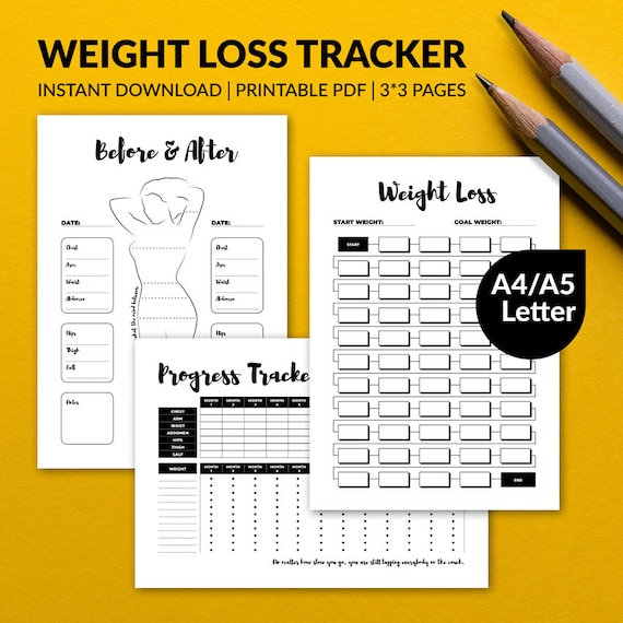 graphic regarding Bullet Journal Weight Loss Tracker Printable called Printable Bodyweight Reduction Tracker Enhancements Chart Bullet Magazine Planner Incorporate A4 A5 Letter Prompt Obtain Editable PDF